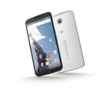 This product image provided by Google shows the Nexus 6 smartphone. The phone boasts a nearly 6-inch screen, eclipsing the 5.5-inch display on the iPhone 6 Plus that Apple began selling last month. (AP Photo/Google)