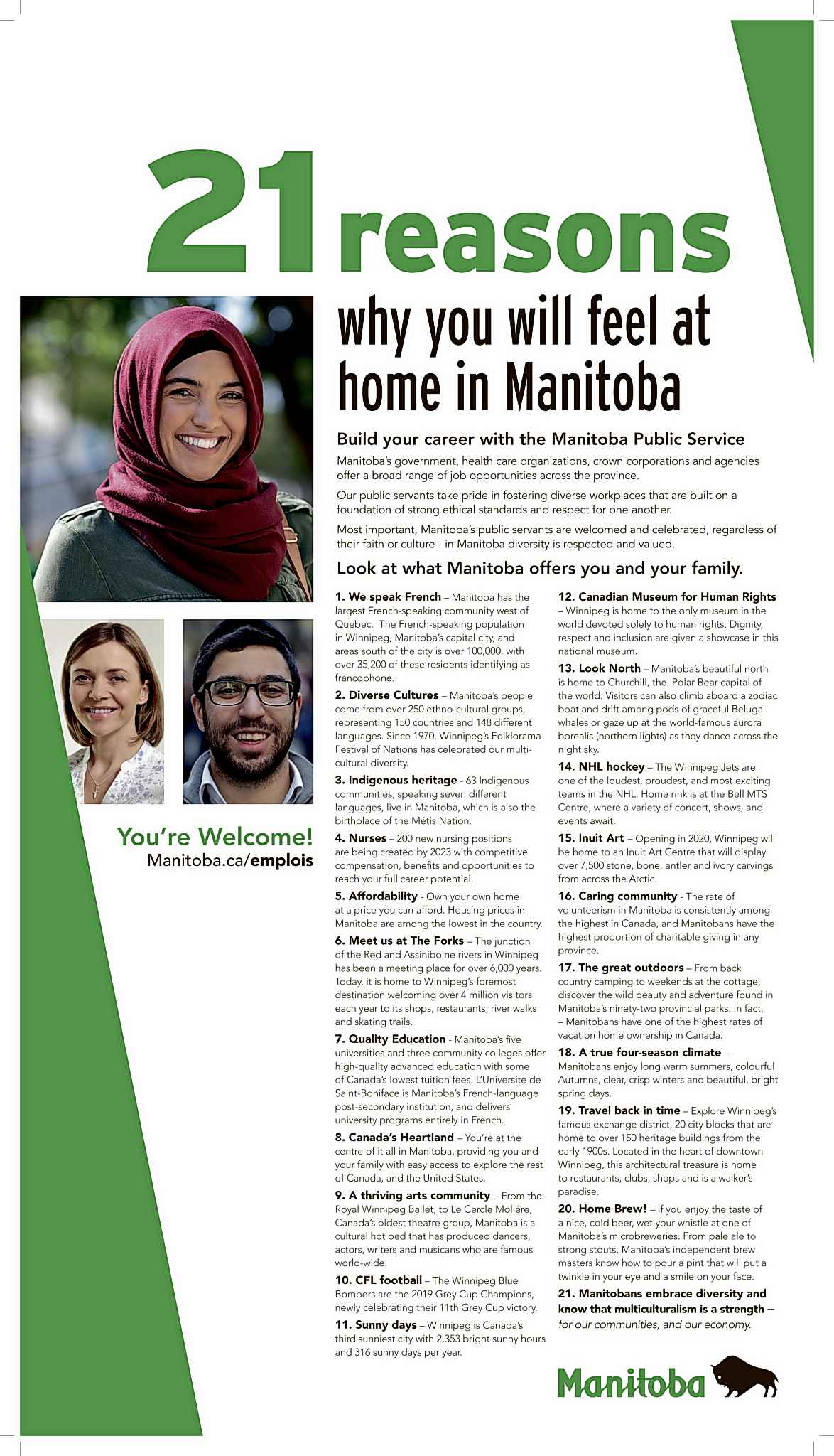 Was the placement of newspaper ads a cheeky way for Manitoba to express its disdain for Bill 21 in a higher-profile manner than other provinces?