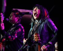 Buffy Sainte-Marie performs on the mainstage during RightsFest.