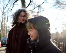 Danielle Meitiv with her son Rafi, 10.