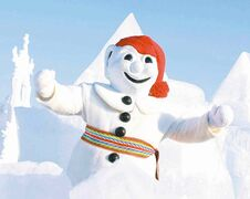 Le Dude. Bonhomme Carnaval has been the mascot of the Quebec City winter carnival, Canada's largest pre-Lenten celebration, since 1954.