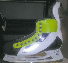 Dustin Byfuglien will be wearing these skates in Sunday's all-star game.