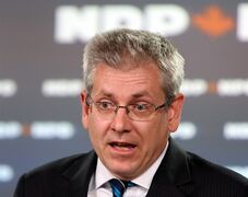 NDP MP Charlie Angus, the party's ethics critic, holds a news conference in Ottawa Monday May 20, 2013. The federal New Democrats are calling on the Mounties to investigate the actions of Prime Minister Stephen Harper's former chief of staff. THE CANADIAN PRESS/Fred Chartrand
