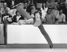 Legendary Canadian figure skater Toller Cranston has died at age 65. Cranston is shown during the Canadian Figure Skating Championships in Moncton in this Feb. 2, 1974 file photo. THE CANADIAN PRESS/Doug Ball