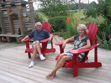 Jim Bakken and Sheila Cox offer guests a relaxing break away at their White Horse Escape bed and breakfast, 75 Caron Rd. in St. Francois Xavier.