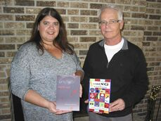Suzanne Leclerc (left), who writes under the pen name Suzanne Costigan, pictured with Larry Verstraete.