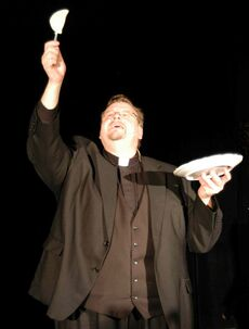 Father Mark Gnutel stars in Danny Schur's Perogy Supper Miracle.