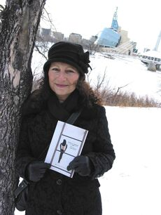 Brenda Sciberras pictured in St. Boniface holding a copy of her book Magpie Days.