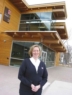 Maj. Corinne Cameron pictured outside the Salvation Army Barbara Mitchell Family Resource Centre on Morrow Avenue.
