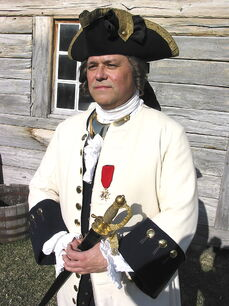 Michel Loiselle, La Compagnie's captain, recently pictured at Fort Gibraltar in St. Boniface.