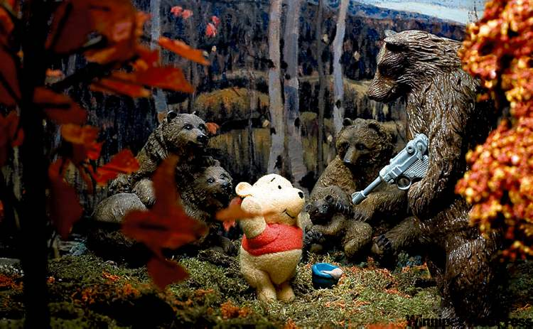 Not in Hundred Acre Wood any more: Maples and Birches with Winnie and the Pooh.
