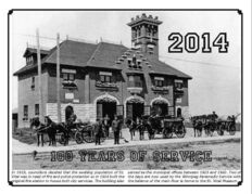 The cover of the 2014 calendar of the St. Vital Historical Association depicts the St. Vital Fire Hall as it appeared when it opened in 1914.