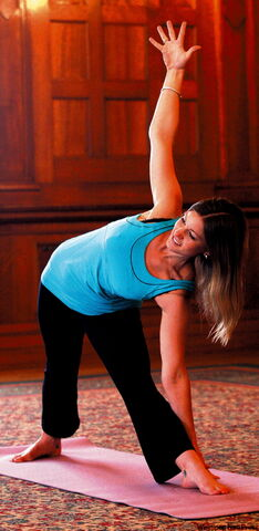 Samatha Chisick is in charge of a new yoga program The Fort Garry Hotel.