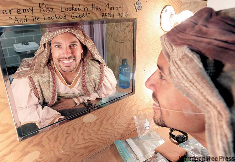 Thom Allison  prepares for role  as Reuben at Rainbow Stage.