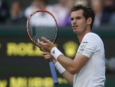 FILE - In this Friday, June 27, 2014, file photo, Andy Murray of Britain gestures between points as he plays Roberto Bautista Agut of Spain in their men's singles match at the All England Lawn Tennis Championships in Wimbledon. (AP Photo/Sang Tan, File )