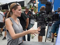 In this image released by Universal Pictures, director Angelina Jolie appears on the set of