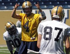 Quarterback Buck Pierce is in command at practice Tuesday.