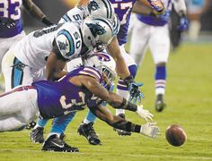 David T. Foster III / Charlotte Observer / MCTBombers coach Mike O�Shea doesn�t know if there would be a spot on the Blue and Gold for  Alex Hall (50), now that the club�s former sack leader has been cut by the Carolina Panthers.