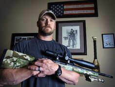 The late Navy SEAL and author of the book 'American Sniper,' Chris Kyle.