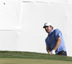 Billy Andrade chips on to the ninth hole during the second round of the Charles Schwab Cup Championship golf tournament Friday, Oct. 31, 2014, in Scottsdale, Ariz. (AP Photo/The Arizona Republic, Mark Henle) MARICOPA COUNTY OUT; MAGAZINES OUT; NO SALES