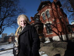 Wilma Derksen poses at Dalnavert House Wednesday afternoon. See Story re: aquiring the property. April 16, 2014 - (Phil Hossack / Winnipeg Free Press)