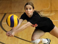 Libero Caleigh Dobie and her Manitoba teammates have been hard at work this week preparing for the 2014-15 season.