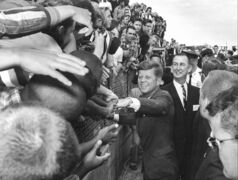 With the 50th anniversary of his Nov. 22, 1963 assassination at hand, we look back at John F. Kennedy in photos.   Television imprinted Kennedy, seen here in Florida days before his death, into the memories of people around the globe.