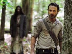 Andrew Lincoln plays Rick Grimes in a scene from the season four of