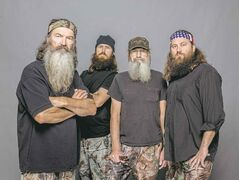 Ducking controversy: From left: Phil Robertson, Jase Robertson, Si Robertson and Willie Robertson from A&E's Duck Dynasty.