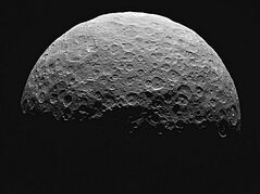 This photo from a sequence of images provided by NASA, taken from the Dawn spacecraft of Ceres, a dwarf planet located in the asteroid belt between Mars and Jupiter. NASA said the start of science observations was slightly delayed because of a communication glitch. The space agency said the delay won't affect the overall mission. (NASA via AP)