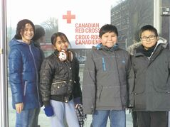 Students from Mulvey School helped raise money for the Red Cross after the hurricane in the Philippines.