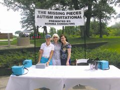 Rebecca Kuik (left) pictured with her grandmother and aunt at the recent Missing Pieces Autism Invitational event.