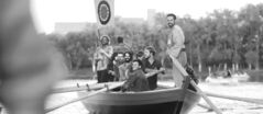 The Riel Gentlemen's Choir performs on a York boat during Barge Fest at The Forks on Friday.