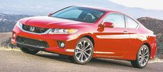 The ninth-generation Honda Accord is offered in both sedan and coupe models.