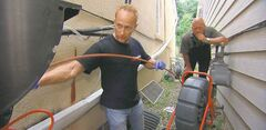 Mike Holmes employs the skills of a licensed plumber for all plumbing related jobs under his authority to ensure proper building measures are taken.