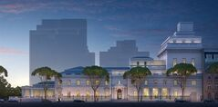 This undated artist rendering provided by the Frick Collection courtesy of Neoscape Inc., 2014 shows the Frick Collection museum, with a new six-story wing added on to the mansion on East 70th St., in New York. Construction, which will include more gallery space, a 220-seat auditorium and rooftop garden, is slated to begin in 2017 and completed in early 2020. (AP Photo/Frick Collection courtesy of Neoscape Inc., 2014 )