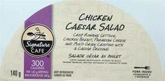 The label of a 140 g package of Signature Cafe: Chicken Caesar Salad, is shown in a handout image, released on Wednesday February 26, 2014. THE CANADIAN PRESS/HO, CFIA