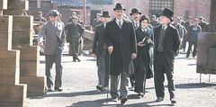 Chris Noth (centre) appears in Titanic: Blood and Steel.