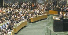 Foreign Affairs Minister John Baird at the UN General Assembly Thursday. Palestinians became non-member observer state.