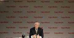 ExxonMobil CEO Rex Tillerson speaks to reporters after the annual meeting ExxonMobil shareholders meeting in Dallas, Wednesday, May 28, 2014. (AP Photo/LM Otero)
