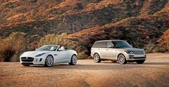 A Jaguar and a Land Rover are pictured in a handout photo, released on Friday January 3, 2014. THE CANADIAN PRESS/HO