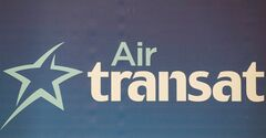 An Air Transat logo is shown in Montreal, May 17, 2012. THE CANADIAN PRESS/Graham Hughes