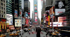 Times Square by day -- the congestion capital of an overly congested city.