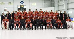Canada's World Junior hockey team poses for their annual team picture in Toronto on Wednesday, December 15, 2010.