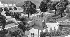 The complete Upper Fort Garry Heritage Park is shown in an artist's rendering.