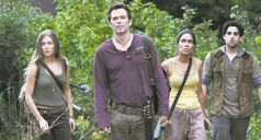 From left, Tracy Spiridakos, Billy Burke, Daniella Alonso and Paras Patel in Revolution.