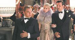 Viewers can emulate the debonair, daring '20s styles sported by The Great Gatsby's Leonardo DiCaprio, Carey Mulligan and Joel Edgerton (from left).