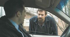 From left, Jake Gyllenhaal and Hugh Jackman in a scene from the 2013 film Prisoners.
