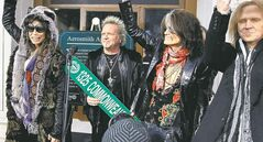 Aerosmith�s Steven Tyler (from left), Joey Kramer, Joe Perry and Tom Hamilton.