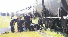 Cole was pitched off the top of a tanker car three days on the job in Brandon. He was initially assessed with serious, but non-life-threatening injuries.